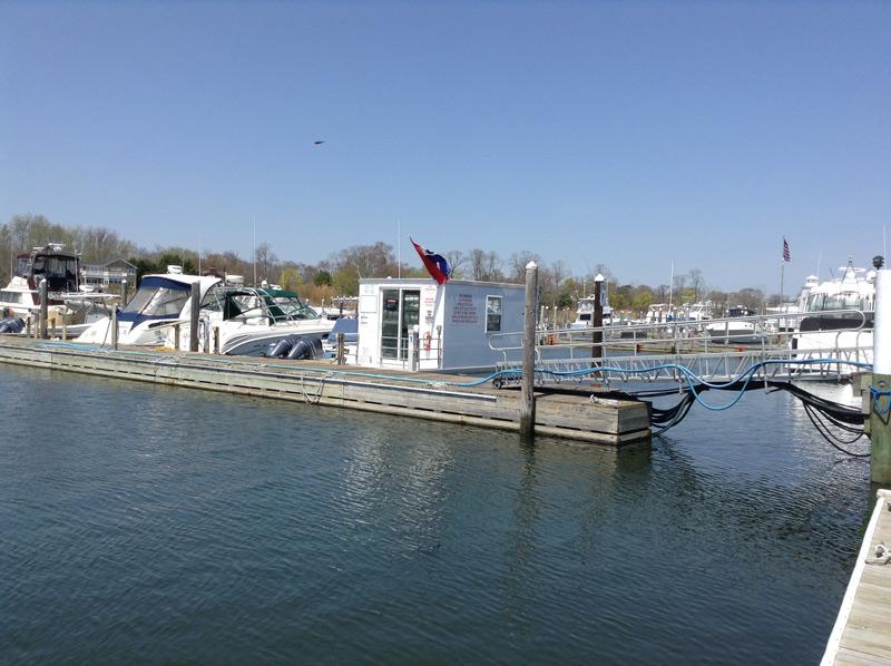 Fuel dock House