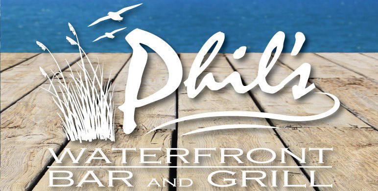 """logo for """"phil's waterfront bar and grill"""""""
