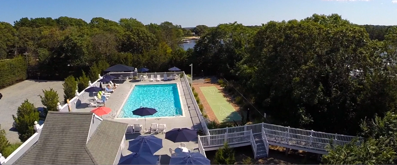 overhead of lighthouse marina pool