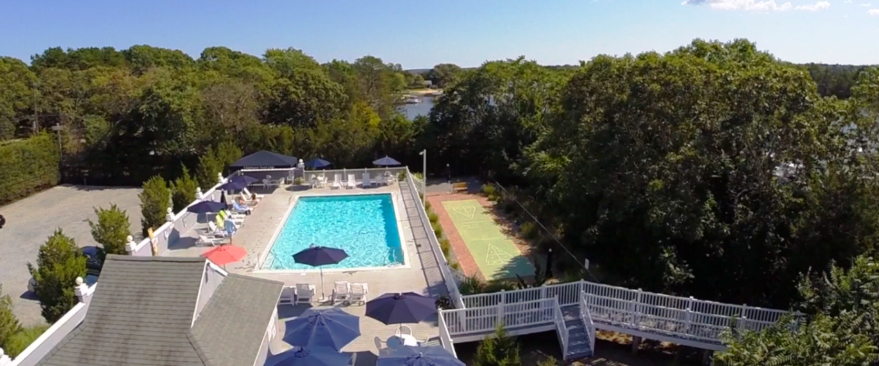 Ariel view of Solar Heated Pool